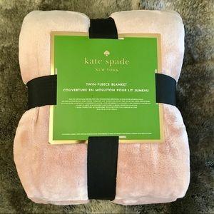 Kate Spade Blush Pink Twin Fleece Blanket Throw